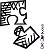 Vector Clipart image  of a jigsaw puzzle pieces