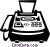 Vector Clip Art image  of a fax machine