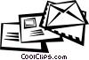 Vector Clip Art picture  of a letters/envelopes
