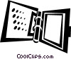 Vector Clipart image  of a binder