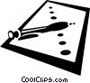 Vector Clipart graphic  of a paper and pens
