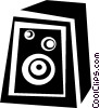 Vector Clip Art graphic  of a stereo speaker