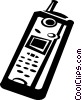 cellular phone Vector Clip Art picture