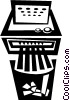 Vector Clipart image  of a paper shredder
