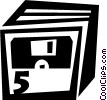 Diskettes Floppy Disks Vector Clip Art image