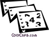 Vector Clip Art graphic  of a Books and Records