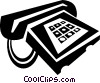 Vector Clipart picture  of a telephone