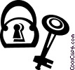 lock and key Vector Clipart picture