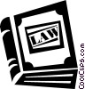 Vector Clipart graphic  of a law books