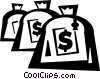 Vector Clipart image  of a money bag