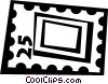 Vector Clipart graphic  of a postage stamp