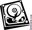 Vector Clipart graphic  of a hard disk drive