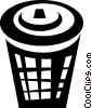 garbage can Vector Clip Art picture