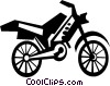 Vector Clip Art image  of a dirt bike