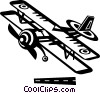 propeller plane Vector Clipart illustration