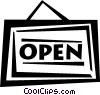 open sign Vector Clipart picture