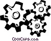 Vector Clip Art picture  of a gears