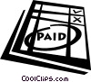 Vector Clipart image  of a financial record