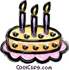 Birthday cake Vector Clip Art graphic