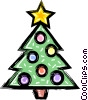 Christmas tree Vector Clipart illustration