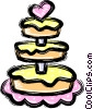 Vector Clip Art image  of a Wedding cakes