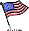 Vector Clip Art picture  of an American flag
