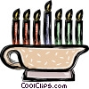 Vector Clipart graphic  of a Menorah