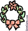 Christmas wreath Vector Clip Art graphic