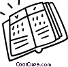 Vector Clipart image  of a book