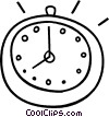Vector Clip Art image  of a stopwatch