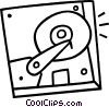 Vector Clipart illustration  of a hard disk drive