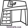 work desk Vector Clipart illustration