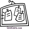 Vector Clip Art picture  of a message board