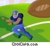 Vector Clipart illustration  of an American Football