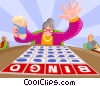 Bingo Game Vector Clip Art graphic
