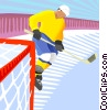 Vector Clip Art picture  of a Hockey player