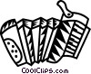 Vector Clip Art picture  of an accordions