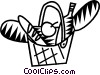 Vector Clipart picture  of a picnic basket