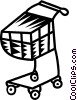Vector Clip Art image  of a shopping cart