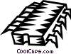 Vector Clip Art image  of a computer chip