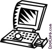 Vector Clip Art graphic  of a notebook computer