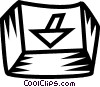 Vector Clipart illustration  of a keyboard key