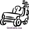 Vector Clip Art picture  of a golf cart