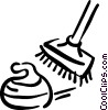 Vector Clip Art image  of a curling