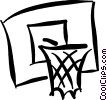 Vector Clip Art image  of a Basketballs and Nets