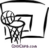 Vector Clip Art graphic  of a basketball net
