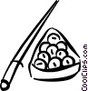 Vector Clip Art image  of a billiards