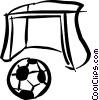 Vector Clipart graphic  of a soccer