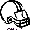 football helmet Vector Clipart graphic