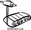 Vector Clipart image  of a Treadmills